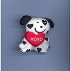 Delightful Dog with Valentine Heart Pin [kd] 54112