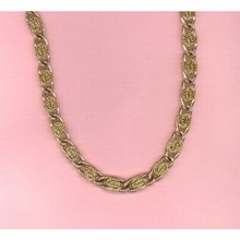 "28"" Chunky Gold Chain Necklace West Germany  [kd] 54056"