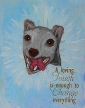 A Loving Touch ORIGINAL OIL PAINTING by Lotje [cj] 27126
