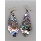 Genuine Shimmering  Abalone Shell Wire Earrings [kd] 54117
