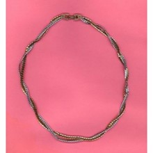"15"" Gold and Silver Chain Necklace by Avon [kd]"