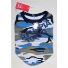 Tee Muscle Shirt with Engraveable Dog Tag Army Camo Blue PUPPIA Size L [cm] 60129 L
