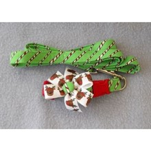 Christmas Candy Cane 'n Reindeer Collar & Leash Set   [cm] 12067