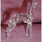 Glass Italian Greyhound Figurines - Clear [kd] 57027