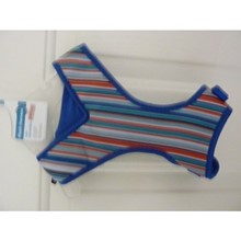 Petco mesh harness/vest  size M, Blue Stripe, Fully adjustable chest 20 - 25 in., neck  13 - 15 in. [cm] 12313M