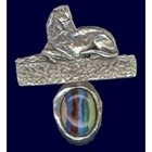 Designs in Polished Pewter - Resting on a Rainbow  [kd] 53011 G