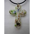 Frumeri Original! Fused Glass Cross Pendant  with IG! [sf] 546011