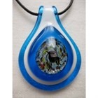 Frumeri Original! Fused Glass Pendant  with IG! In Shades of Blue #2 [sf] 54614